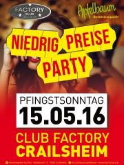 Niedrig Preise Party – Pfingstsonntag