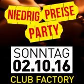 Niedrig Preise Party