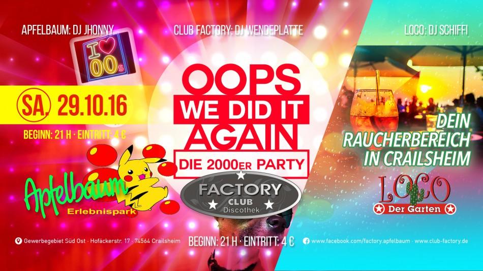 It again die 2000er party im apfelbaum club factory apfelbaum