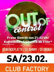 OUT of Control | Apfelbaum & Club Factory Crailsheim