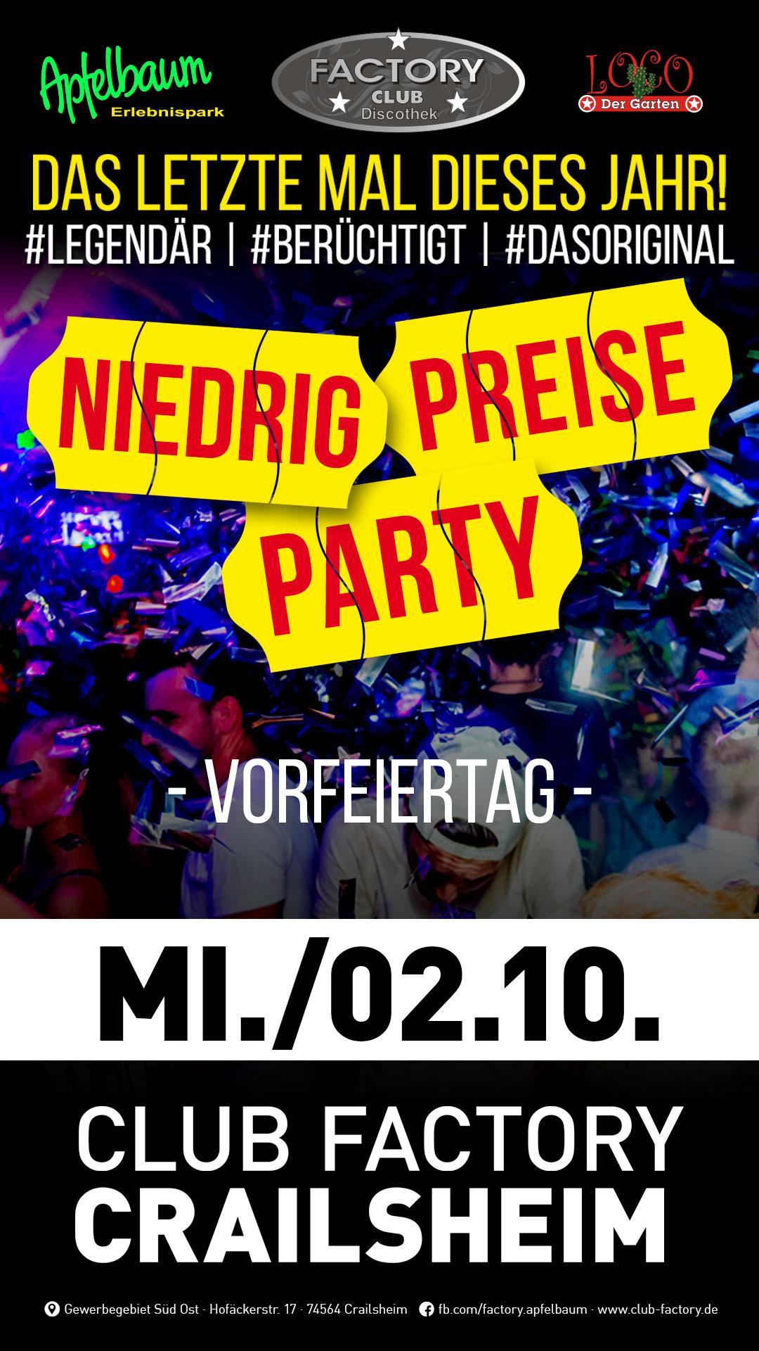 Niedrig-Preise-Party