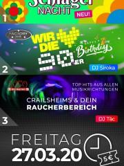 ABGESAGT: SCHLAGER-Party & Geburtstagsparty im Apfelbaum und Club Factory