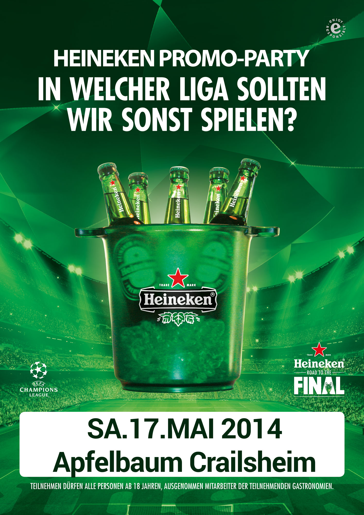 heineken promo club factory apfelbaum. Black Bedroom Furniture Sets. Home Design Ideas