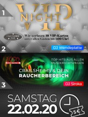 Be our VIP – VIP NIGHT I Apfelbaum & Club Factory