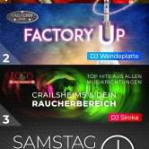 ABGESAGT: Factory Up & Latino Party | Apfelbaum & Club Factory Crailsheim